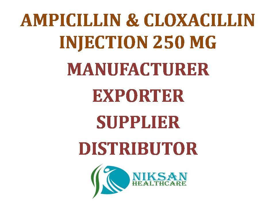 AMPICILLIN & CLOXACILLIN INJECTION 250 MG