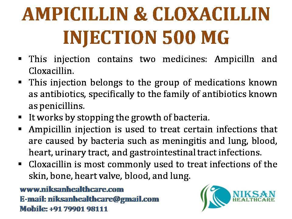 AMPICILLIN & CLOXACILLIN INJECTION 500 MG