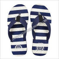 Mens Striped Rubber Slippers