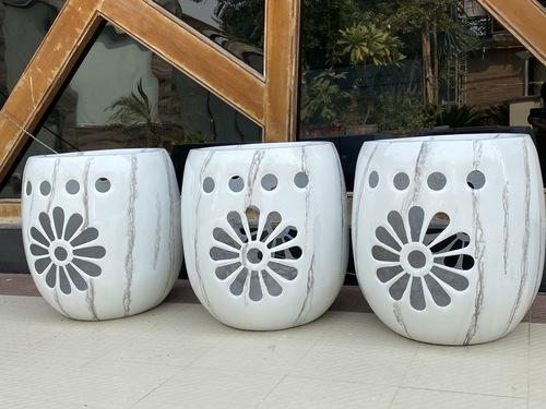 Marble finish designer pot