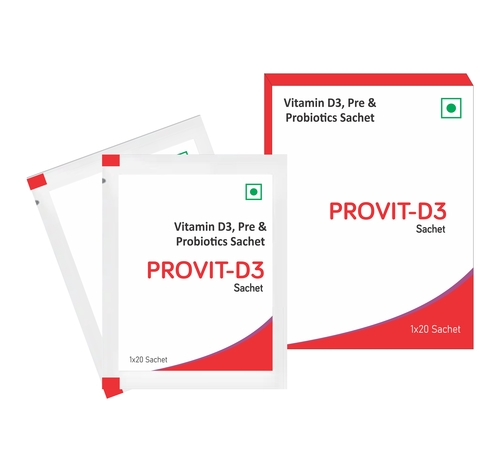 Vitamin D3, Pre and Probiotics Sachets