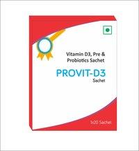 Vitamin D3, Pre and Probiotics Sachets