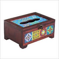 Wooden Tile Tissue Box