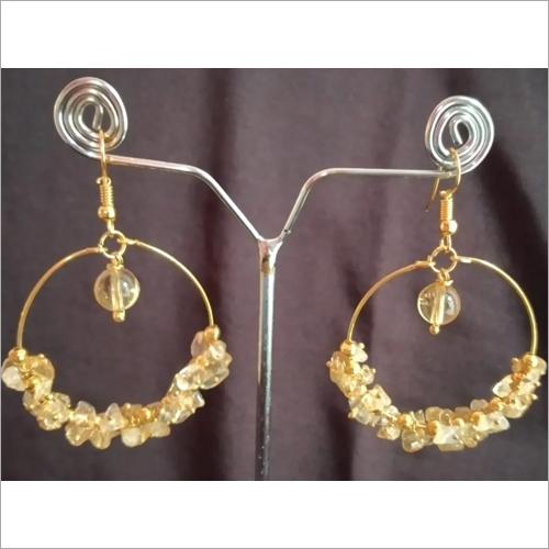 Citrine Agate Earrings