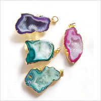 Gemstone Druzzy Pendants