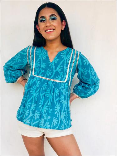 Washable Batik Top In Cotton