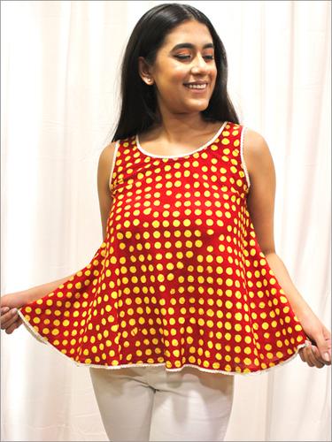 Batik Umbrella Top in Cotton