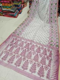 Printed Jamdani Saree