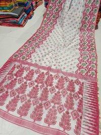 Printed Jamdani Saree