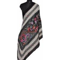 Wool Flap Embroidery Stole