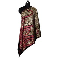 Wool Dobby Jaal Embroidery Stole