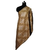 Wool Silk Jaal Embroidery Stoles