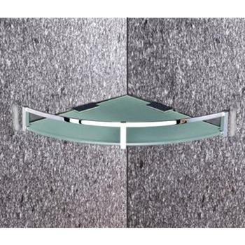 Brass Glass Shelf & Corner