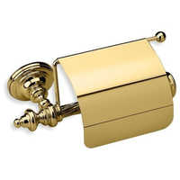 Brass Toilet Paper Holder With Lid