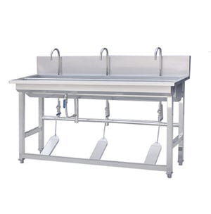 Stainless Steel Luxury Pedal Type Sink  Commercial Stainless Steel 304 Foot Operated Hand Wash Sink