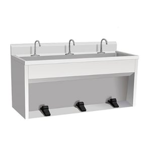 Hotel Stainless Steel Foot Operated Hand Wash Sink with Pedal