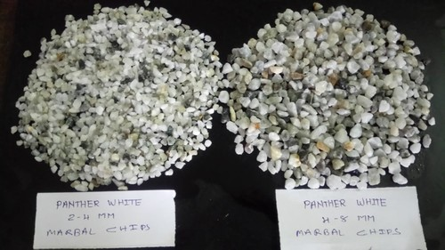 Panther White Crushed Stone CALCIUM CARBONATE Terrazzo floor Chips & Aggregate