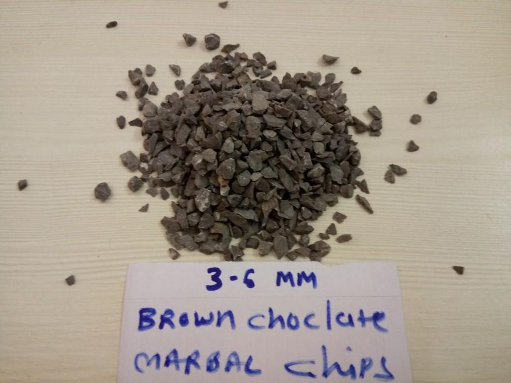 Mocha brown marble chips industrial terrazzo flooring