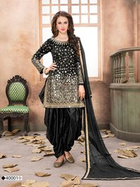 designer mirror work patiala suit
