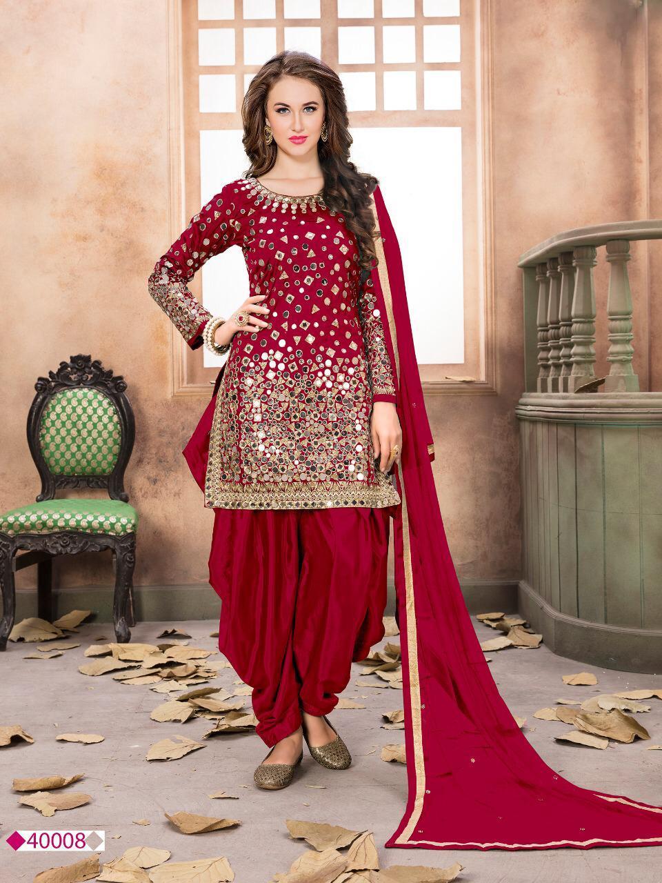 designer mirror work patiala suit