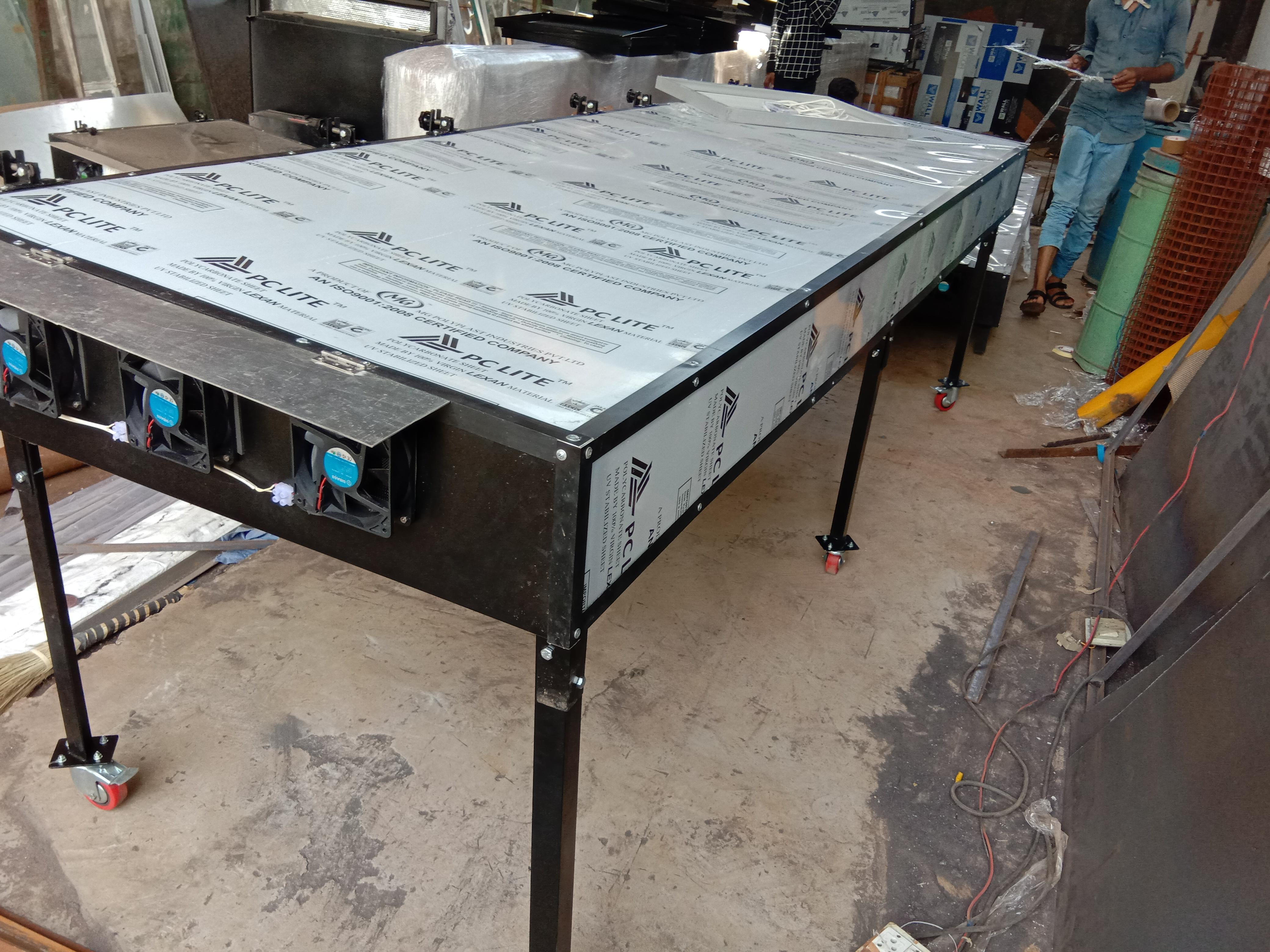 Solar Dryer for olives leaf  with electric back up