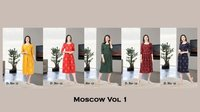 Moscow  Vol -1 Heavy American Crep Kurti