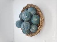 Blue Aquamarine spheres