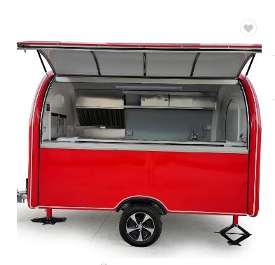 Mobile food truck 7.5ft dining car food trailer for europe vendors hotdog food