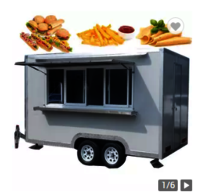 Retro Food Truck With Stainless Steel Kitchen Equipment