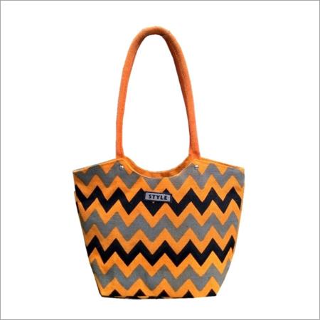 Ladies Jute Ornamented Shopping Hand Bags