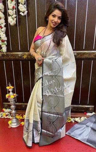 SUPER HIT KANJIWARAM ALLOVER SILVER WEAVING