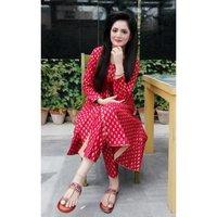 Beautiful reyon kurti with Pant