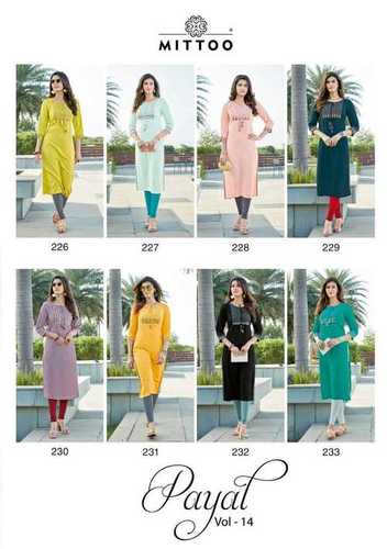 Payal Vol 14 Rayon With Work Kurti