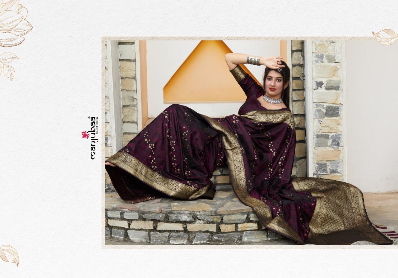 Traditional Banarsi silk satin Sarees