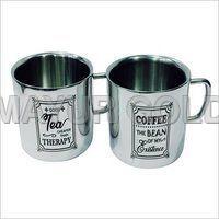 Steel Tea/coffee Printed Mugs