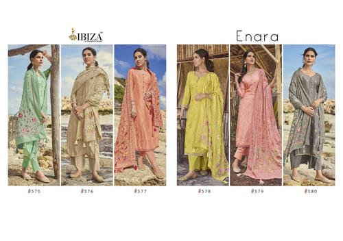 Enara Pure Russian Silk Jecquard Dress Material
