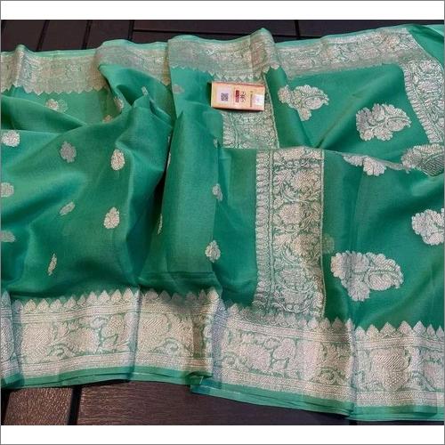 Banarasi Pure Handwoven Khaddi Chiffon Kadwa Saree