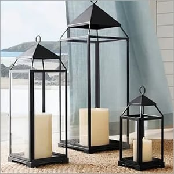 Malta Glass Metal And Bronze Finish Lantern