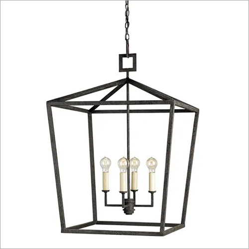 Chandelier Iron Glass Lantern