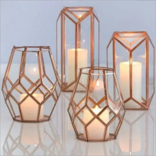 Iron And Glass Votive Candle Holder