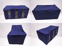 Heavy Quality 3 Partition Folding Storage Organizer (Navy Blue)