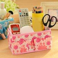2 Pcs Mini Desktop Cosmetic & Stationary Organizer (Random Color)