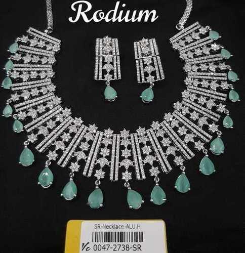 Fancy American Diamond Necklace Set