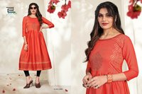 Trend Vol-3 Heavy Rayon Two Tone Long Kurti