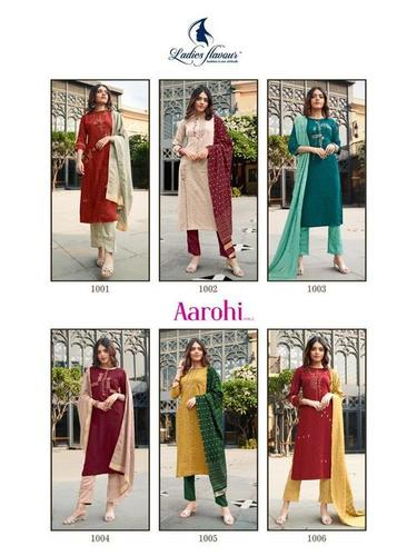 Aarohi Vol 3 Chinon Lining With Embroidery Work