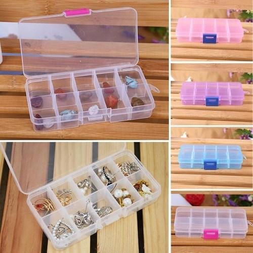 4 Pcs 10 Grids Multipurpose Storage Box (Random Colors)