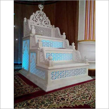 White Marble Mimber in jali