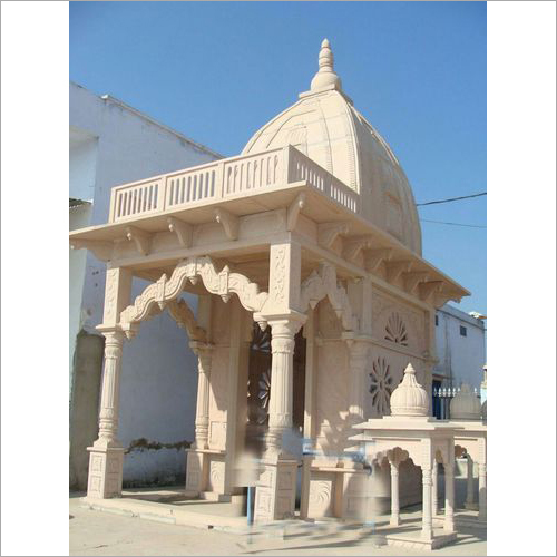 Outdoor Pink Sand Stone Temple