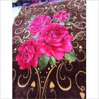 Floral Single Bed Mink Blanket