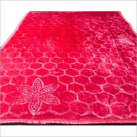 Single Bed Plain Embossed Mink Blanket